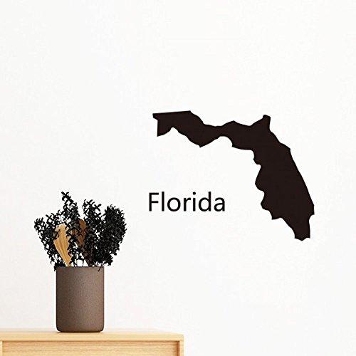 DIY thinker Florida de Verenigde Staten van Amerika USA kaart Silhouet verwijderbare muurstickers kunst-stickers muur DIY behang voor kamer sticker 70cm