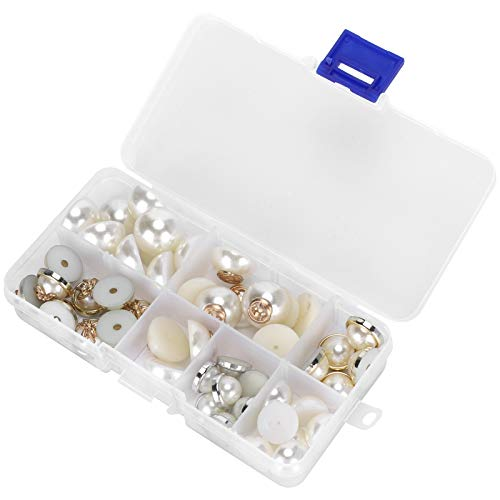 Accesorios de bricolaje de perlas planas, bricolaje, media cuenta, parte trasera plana, caja de plástico, caja de plástico, caja de teléfono móvil, accesorios de bricolaje, decoraciones artesanales de