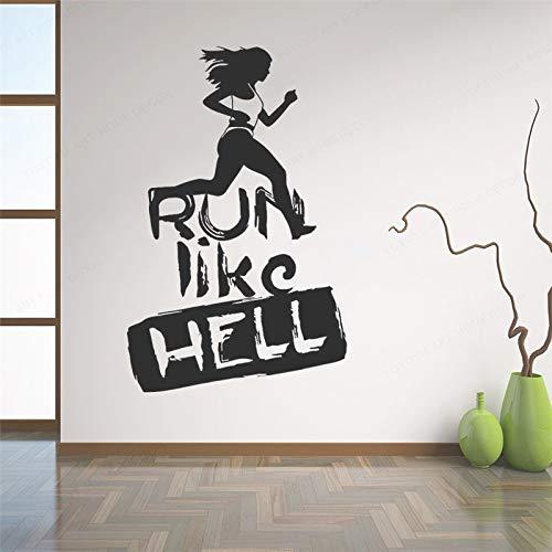 BailongXiao Sin Marco-Motivación Deportiva como el Infierno Corriendo Etiqueta de Arte de Pared b