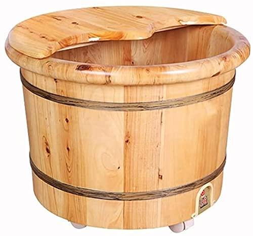 Barril de baño de pie, barril de baño de pie con calefacción a casa, barril de lavado de pies de madera, barril eléctrico de baño con calefacción, barril de madera maciza, barril de estilo chino
