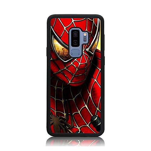 Galaxy S9 Case, Hero Spider Man Print Shock-Absorption Soft Bumper + Hard Back Cover Anti-Scratch Drop Protection for Samsung Galaxy S9