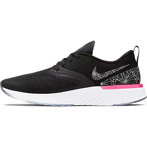 Nike Men's Odyssey React 2 Flyknit Black/Black Mesh Running Shoes 12 M US