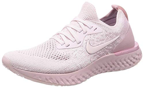 Nike Women's Epic React Flyknit Running Shoes (10, Pink), Pink, Size...