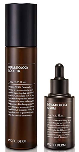 INCELLDERM Dermatology First Package - Dermatology Booster 120ml / 4.05 fl. oz. and Dermatology Serum 45ml / 1.52 fl. oz.
