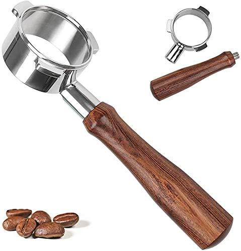 Bodenloser Siebträger Kompatibel,54mm Bodenlos Nackter Siebträger für Breville Barista Series und 54mm Breville Espressomaschinen mit 1 Tasse Filterkorb