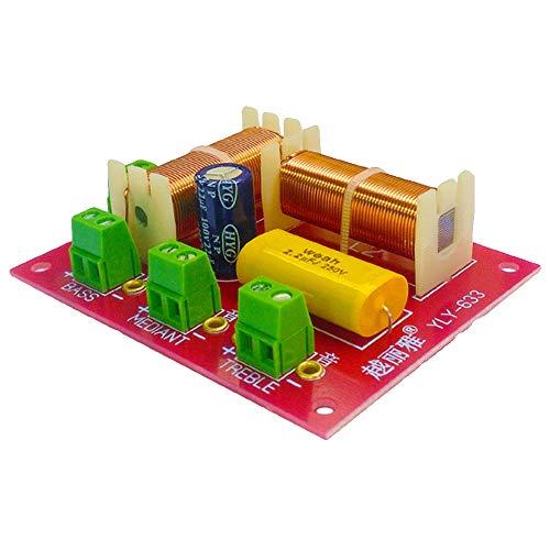 Divisor de frecuencia Filtro de 3 vías para accesorios de altavoces Reemplazo de crossover portátil profesional Agudos Medios bajos Práctico Audio Independiente