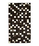Zerimar Alfombra Patchwork Piel de Vaca | Medidas: 120x60 cm | Alfombra Salón | Alfombra Decoracion | Alfombra Dormitorio | Alfombra Natural | Alfombra Vaca