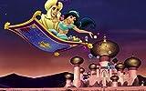 JUHAO 1000 Rompecabezas, Rompecabezas De Madera, Rompecabezas Completos 75 * 50Cm-La Princesa Jasmine De Aladino Sentada En Una Alfombra Voladora-Decoraciones Para El Hogar, Regalos.
