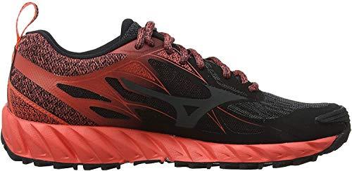 Mizuno Wave Ibuki, Zapatillas de Running para Asfalto para Mujer, Negro Negro Oscuro Sombra Caliente Coral 51, 41 EU