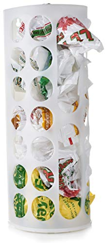 Grocery Bag Storage Holder - This Large Capacity Bag Dispenser Will Neatly Store Plastic Shopping Bags and Keep Them Handy for Reuse. Access Holes Make Adding or Retrieving Bags Simple and Convenient.