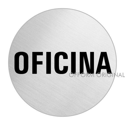 OFFORM Señal pictograma en acero inox - Oficina   Ø 75mm No.39135