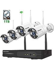 防犯カメラセット 200万画素 1080P 8チャンネルNVRシステム セキュリティーカメラ 監視カメラ ワイヤレス防犯カメラ WiFi監視