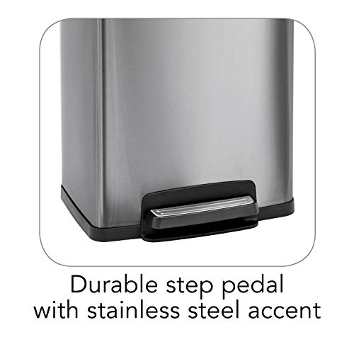 Tramontina 13 Gallon Step Trash Can Stainless Steel Includes 2 Freshener Cartridges …