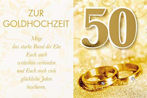 Goldhochzeit Glückwunschkarte 50 zur Goldenen Hochzeit Klappkarte 50 Jahre Jubiläum