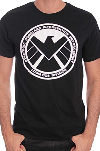 Marvel The Shield-Camiseta Hombre negro X-Large