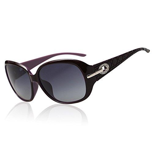 Duco Women ' s Shades classico occhiali polarizzati sovradimensionati 100% protezione UV 6214 (porpora)