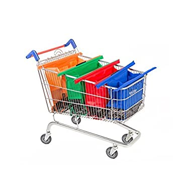 Trolley Bags - Reusable Eco Friendly Grocery Bags to Easily and Safely Bag your Groceries From Your Cart. Sized for Standard Grocery Carts. Reusable Cart Bags. (Standard Cart Size)