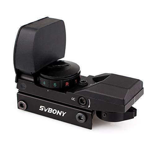 Svbony Punto Rosso, Mirino Red Dot,20 22mm 4 Reticoli 5 Luminosità Mirino Olografico per Attività Sportive
