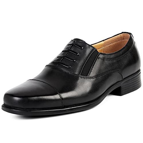 Sdmcdamzzy Herren Leder Schuhe Square Toe Kleid Derby Oxford Kleid Business Schule Schuhe, schwarz, EU44 thumbnail