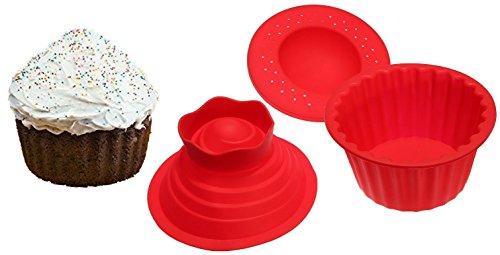 Jumbo Cupcakes Bake Set - 25x Bigger Than a Big Cupcake! - Also Includes Cupcake Recipe Book
