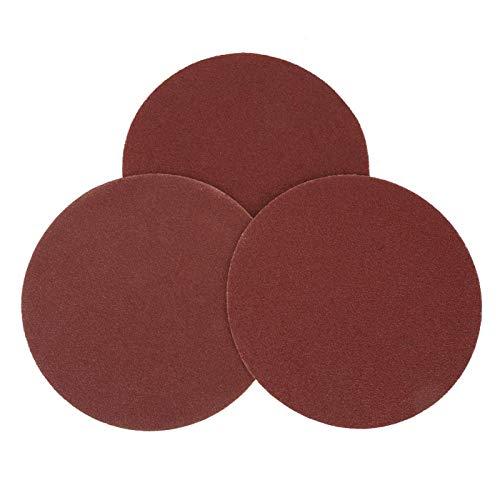 ROMACK Papel de lijadora 100 Piezas Discos de Lijado Rojos Papel de Lija Papel de Lija abrasivo para Disco de Lijado de Gancho y Bucle
