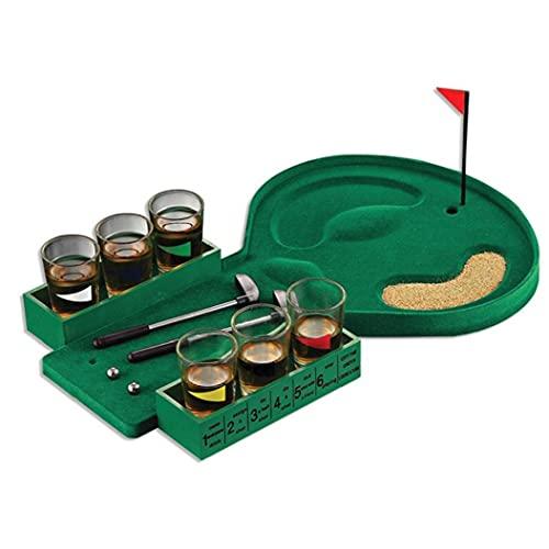 EElabper Mini Golf Juego de Bebidas Divertido Tabletop Vidrio Beber estrés Aliviar el Juguete de Entretenimiento
