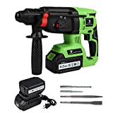 LETTON 21V Cordless SDS Plus Rotary Hammer Drill, 1 inch Brushless Demolition Hammer with Two 4.0Ah...