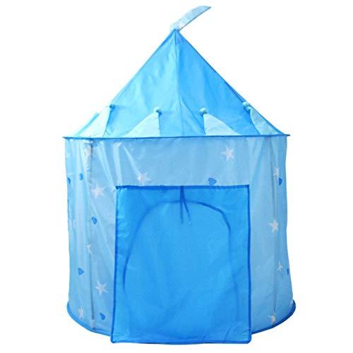 CHENSHJI Tienda Infantil portátil Kids House Play Play Girls Al Aire Libre Camping Tienda Niño Casas de Juego Grandes Tienda Tipi para niños (Color : Azul, Size : 135×105 cm)