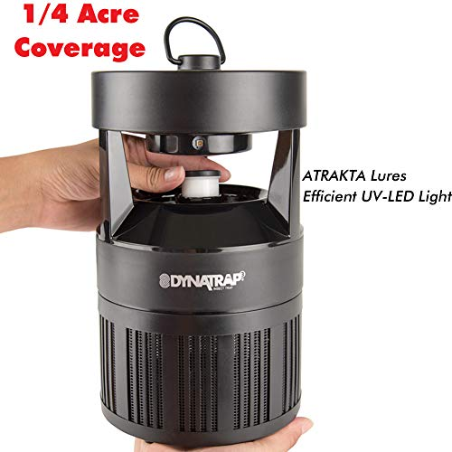 DynaTrap DT700 Outdoor Insect and Mosquito Trap UV LED, Atrakta Lure, 1/4 Acre, Black