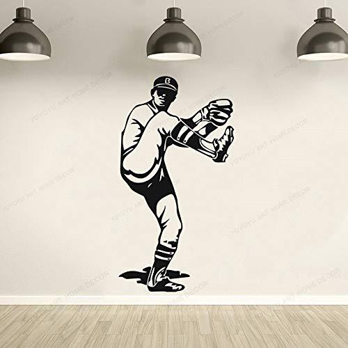 ASFGA Moderne Sportkleidung Sonnenbrille Junge Wohnzimmer Baseballkrug Wand Vinyl Aufkleber Home Wanddekoration 42x77cm