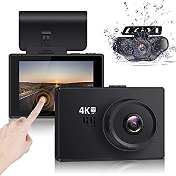 Lifechaser Dual Dash Cam 4K Front and Rear Car Camera 1080P+1080P 3  OLED Touch Screen WiFi GPS Night Mode 150° Parking Mode Time Lapse WDR G-Sensor Loop Recording for Cars Trucks