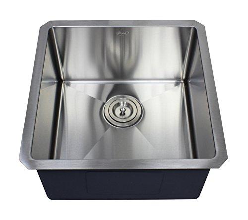 Ariel 18' x 18' Single Bowl Undermount Kitchen Sink
