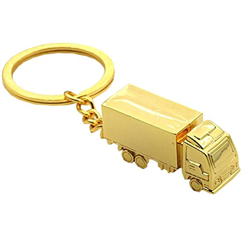 Blancho Bedding Kreative Durable Keychain Schlüsselanhänger Anhänger Schlüsselanhänger Golden\(A)