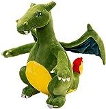JTL Evolutive Winged fire-Breathing Dragon Stuffed Animal Dinosaurs Plush Doll Charizard Kids Toys 13' (Color : Green)