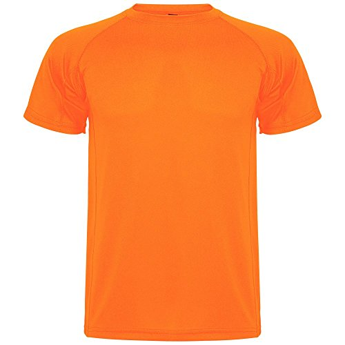 ROLY Camiseta técnica de Hombre Montecarlo, Naranja Fluorescente (L)