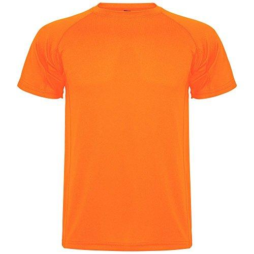 ROLY Camiseta técnica de niños Montecarlo, Naranja Fluorescente (16 años)