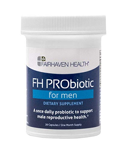FH PRObiotic for Men, Male Fertility Supplement with Probiotics to Boost Sperm Health & Count and Support Conception, 6 Probiotic Strains to Replenish Gut Bacteria (1 Month Supply)