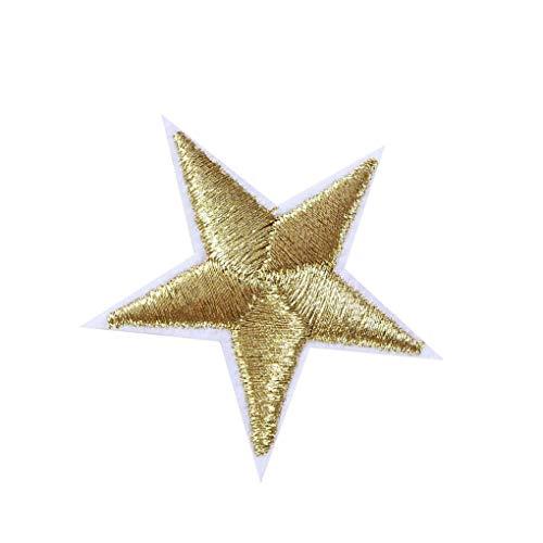 Cdrox 10pcs Tela no Tejida de la Estrella de Star Parches Parches Bordado Ropa de Costura del Bordado de la Etiqueta engomada del Arte Decoración de Accesorios