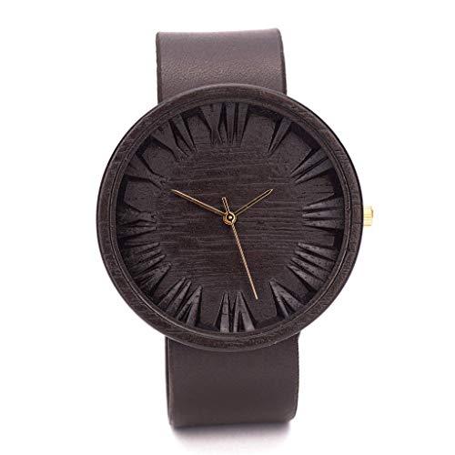 Ovi Watch - Schwarz Holz Uhr Herren - Swiss Quarz