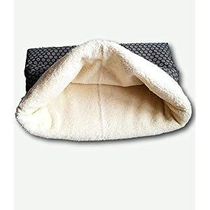Kuschelsack, Schlafsack für Hunde grau mit Baumwollteddy Gr. S-L