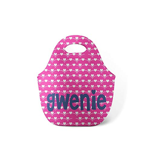 Preppy Hearts Personalized Lunch Tote