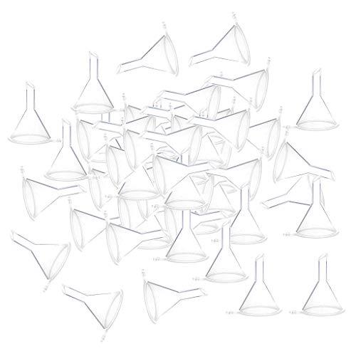 Sharplace 100pcs Mini Entonnoirs Pour Parfums, Poudre, Huiles Essentielles, Bouteilles, Flacons - Clair