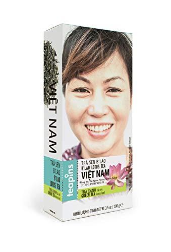 Teapins Te Verde B'Lao Loto | Farmers Natural Premium en Hebras 100g, Siente la Elegancia de la Planta Sagrada de Loto