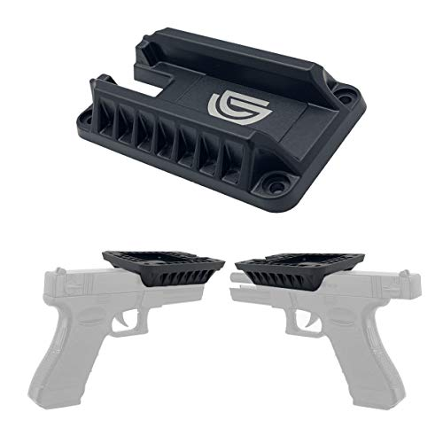 DD Quickdraw Gun Magnet & Magnetic Gun Mount - Holster - Concealed Tactical Firearm,Concealed in Cabinet,Vehicle,Truck,Cashier,Table,car (1 Pack)