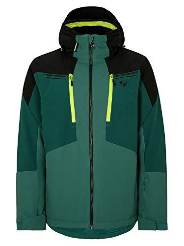 Ziener Herren TINTU Ski Snowboard-Jacke | Atmungsaktiv, Wasserdicht, Green Mountain, 54