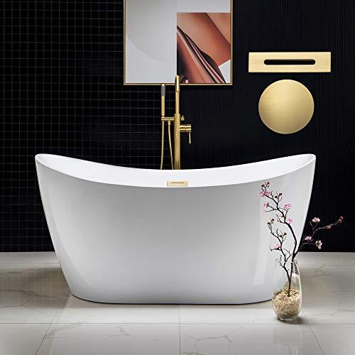 Woodbridge B0016 59' Acrylic Freestanding Bathtub Contemporary Soaking Tub...