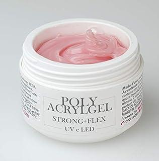 Acrygel Polygel de color rosa leche para reconstrucción de uñas - Polyacrylgel - Acrígel - Milky Rose - UV/LED - 30 ml