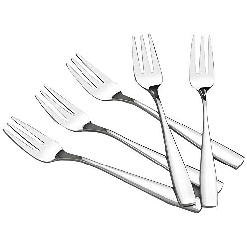 HOMMP 16 Pieces Stainless Steel 3-tine Dessert Fork, Cake Fruit Fork Set