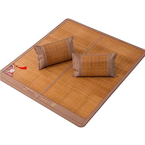 Jianxing Sommer Schlafmatte Hygroskopisch Ausstrahlen Dauerhaft Kein Grat Bambus,5 Größen (Farbe : Braun, größe : 180x220cm)