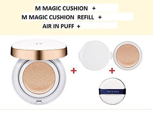 Missha M Magic Cushion Moisture Special Edition #23(+refill 1pcs+air in Puff) + SoltreeBundle Natural Hemp Paper 50pcs